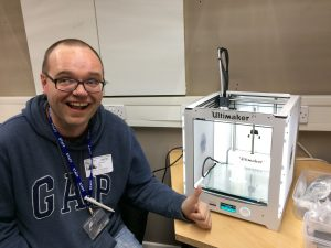 Carl; learning 3D printing at AWCC